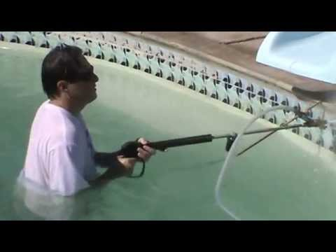 INSTRUCTION 22. Pool Tile Cleaning Demo 1.  Mr. Hard Water Pool Tile Cleaning Blast Kits
