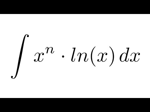 Integral of (x^n)*ln(x) (by parts)