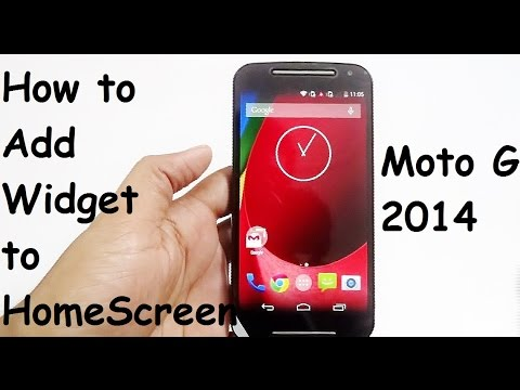 How to add Widgets to the Moto G (2nd Gen 2014 ) Home Screen