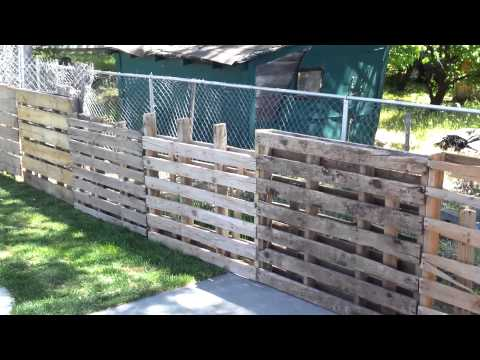 Wood pallet fence 0$ to make