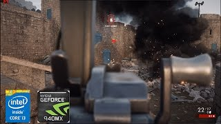 Battlefield 1 Ultra Geforce 940mx Acer Aspire E5-475g I3-6006u