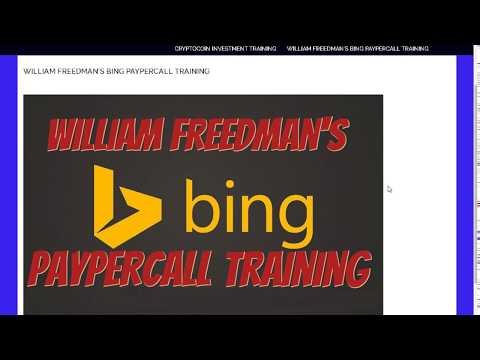 [NEW] BING PAY PER CALL TRAINING IS HERE!!!