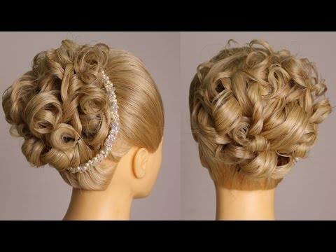 Simple Curls Bun Hairstyle Medium Hair