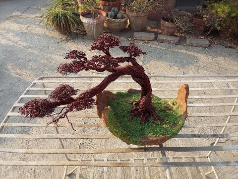 How to Make Copper Wire Tree with Bonsai Pot (Part 1)