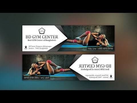 Simple Fitness Web Banner Ad Design - Photoshop Tutorial