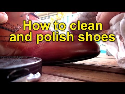 Cleaning and Polishing Shoes