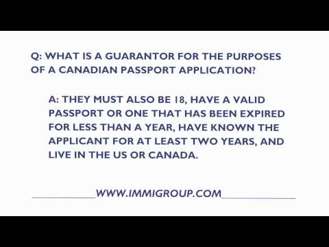 What Is A Guarantor For The Purposes Of A Canadian Passport Application?