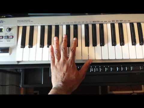 Easy keyboard trick for playing soulful chords