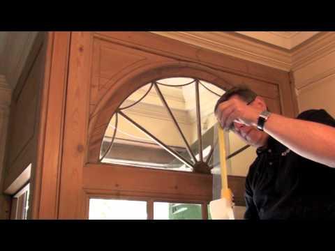 Repairing a cracked window with Sylglas Weatherproofing Tape