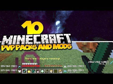 TOP 10 MINECRAFT PVP TEXTURE PACKS & PVP MODS - (Best Minecraft Mods & Resource Packs)