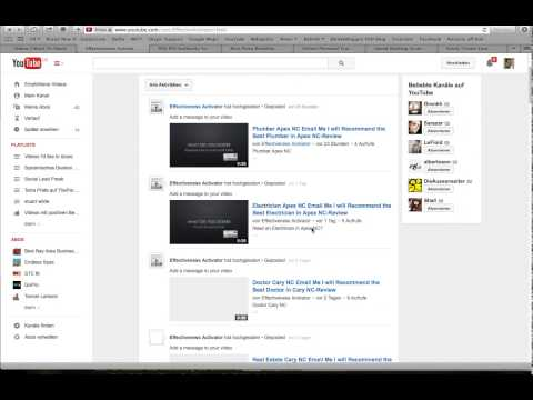 How to get Your Youtube Channel URL for your Channel RSS Feed