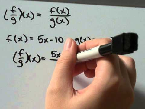 How-to divide functions f(x) and g(x)