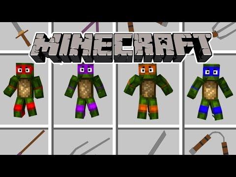 Minecraft - TEENAGE MUTANT NINJA TURTLES NEED HELP! (TMNT Mod, Leonardo, Donatello)
