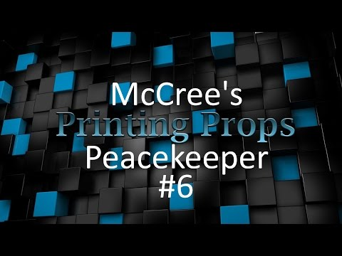 3d Printing Time Lapse - McCree's Peacekeeper - Prime, Sand, Build