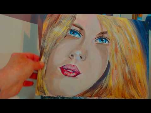 How to Paint a Portrait with Acrylic Paint Preview of the upcoming portrait tutorial