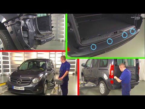 Mercedes Benz Citan | Remove/install rear bumper