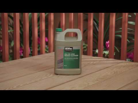 How To Prep a Weathered Wood Surface with BEHR Premium No. 63 All-In-One Wood Cleaner