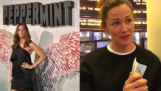 Download Jennifer Gardner Is Shy While Seeing Her Film 'Peppermint' In Theaters with Audience Video