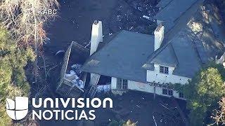 Una visión aérea de cómo quedó Montecito, California, tras los deslaves que afectaron del martes.