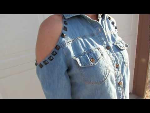 DIY✄: Peekaboo shoulders/Open shoulders