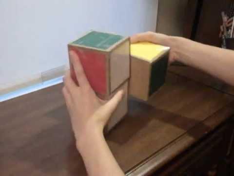 Cardboard 1x2x2 Rubik's cube