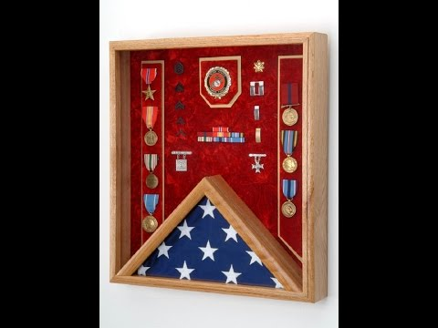 Flag Display Case, Military Shadow Box, Medals & Awards Display Case - 100% made in the USA