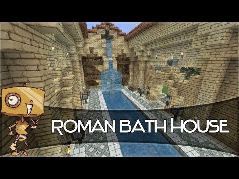 Minecraft Let's Build - a Roman Bath House!