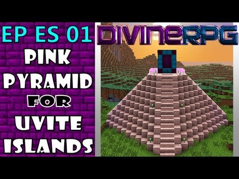 Pink-Pyramid Temple Time-Lapse Construction on Minecraft with DivineRPG MOD (Survival)