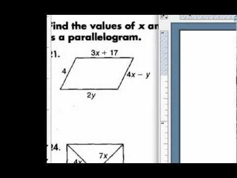 How to Solve a Parallelogram: Using Algebra