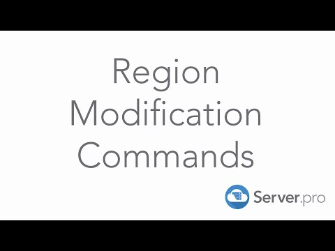 How to use World Edit - Region Modification Commands