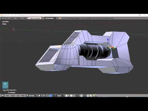 Blender For Noobs - Spaceship tutorial - Part 8 of 12