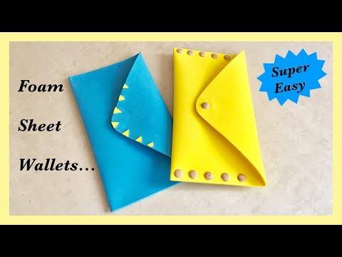 Easy Foam Sheet Wallet / DIY / Travel Wallet   Priti Sharma