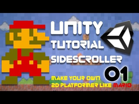 Unity Tutorial -  2D Side Scroller (Super Platformer Bros) Episode 1 - Project Set Up