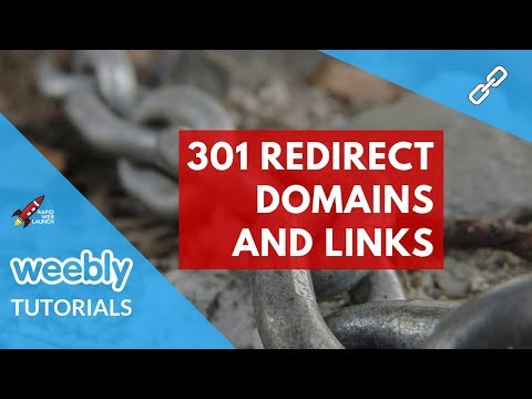 How to 301 redirect domains and links in Weebly | Weebly Tutorials