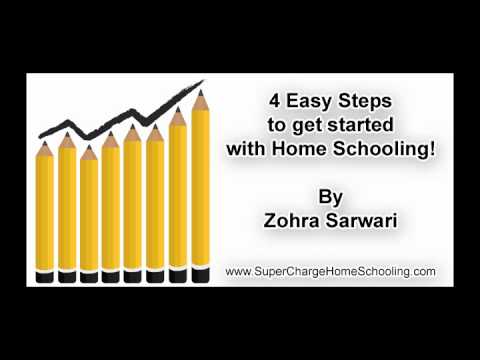 4 Easy Steps TO Get Started With HomeSchooling- Zohra Sarwari- SuperCharge HomeSchooling