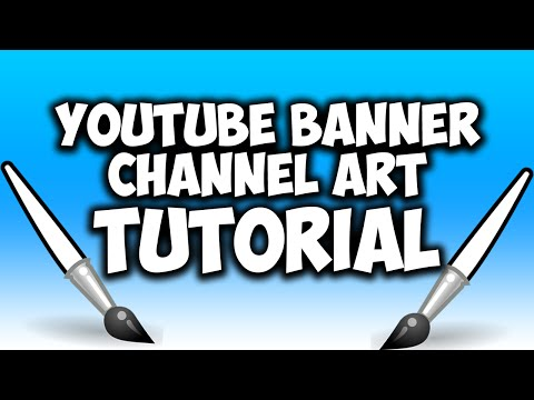 How To Make A YouTube Banner In Photoshop 2015! YouTube Channel Art Tutorial!
