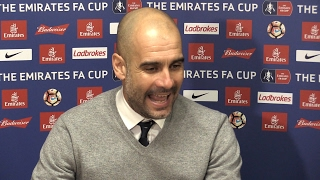 Huddersfield Town 0-0 Manchester City - Pep Guardiola Post Match Press Conference - Embargo Extras