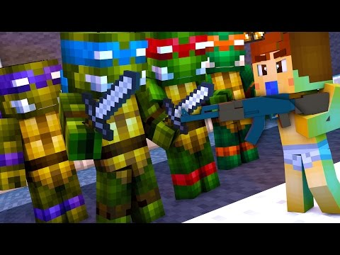 Minecraft - WHO'S YOUR DADDY? - NINJA TURTLES !?