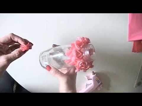 DIY How to fold PLASTIC FLOWER by table cloth, Decoration Idea