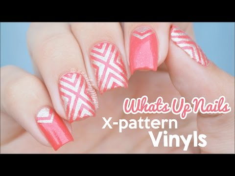 X-Pattern Vinyl Design    using nail vinyls from Whats Up Nails