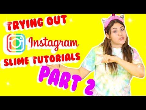 TESTING INSTAGRAM SLIME TUTORIALS PART 2   Recreating popular Instagram slimes   Slimeatory #139