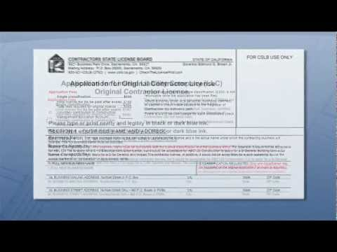 Completing a Contractors License Application 1
