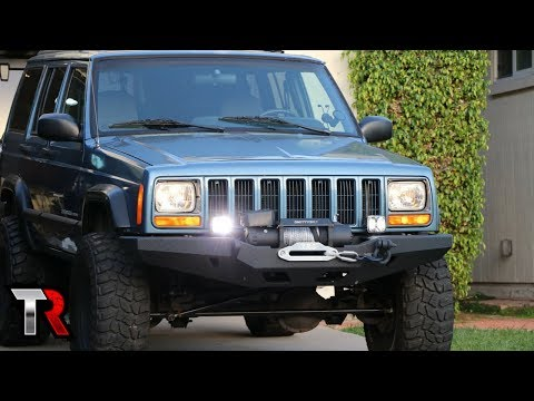 Jeep XJ Off-Road LED Light Install - KC G34's