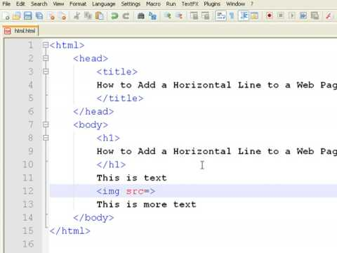 How to Create Web Pages Using HTML : How to Add a Horizontal Line to a Web Page