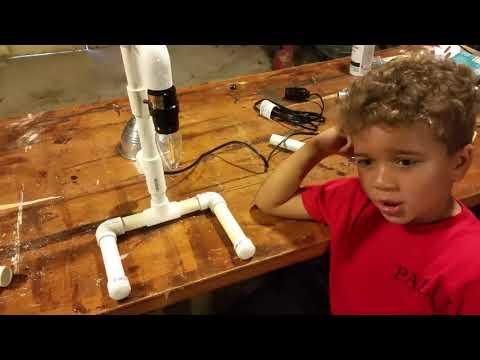DIY Lamp (PVC pipe and a lamp cord)