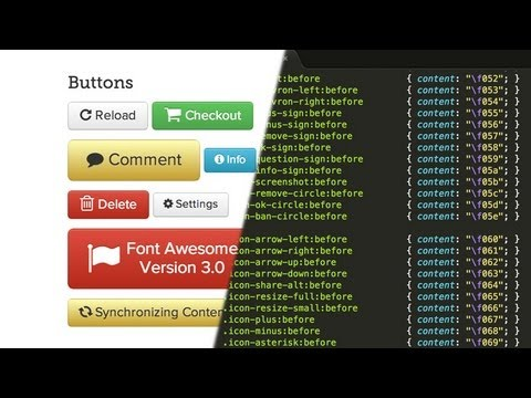 How to install & use Font Awesome 3.0