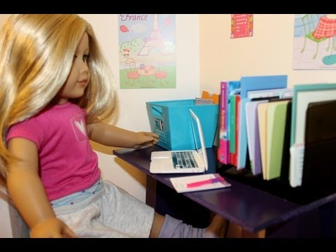 Super Easy ~ AG Table or Desk ~ How to make an American Girl Doll Wood Table (AGBRITAIN CONTEST)