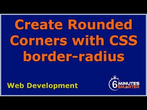 Create Round Corners with CSS border-radius