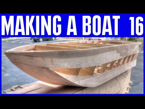 How to Build a Wooden Boat - Wooden Strip Hull on the plywood boat #16
