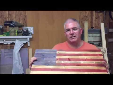 Rustic American Flag / Stained / DIY